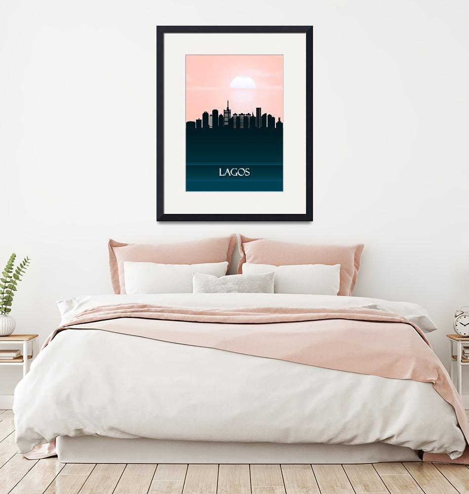 """Lagos City Skyline""  by Towseef"