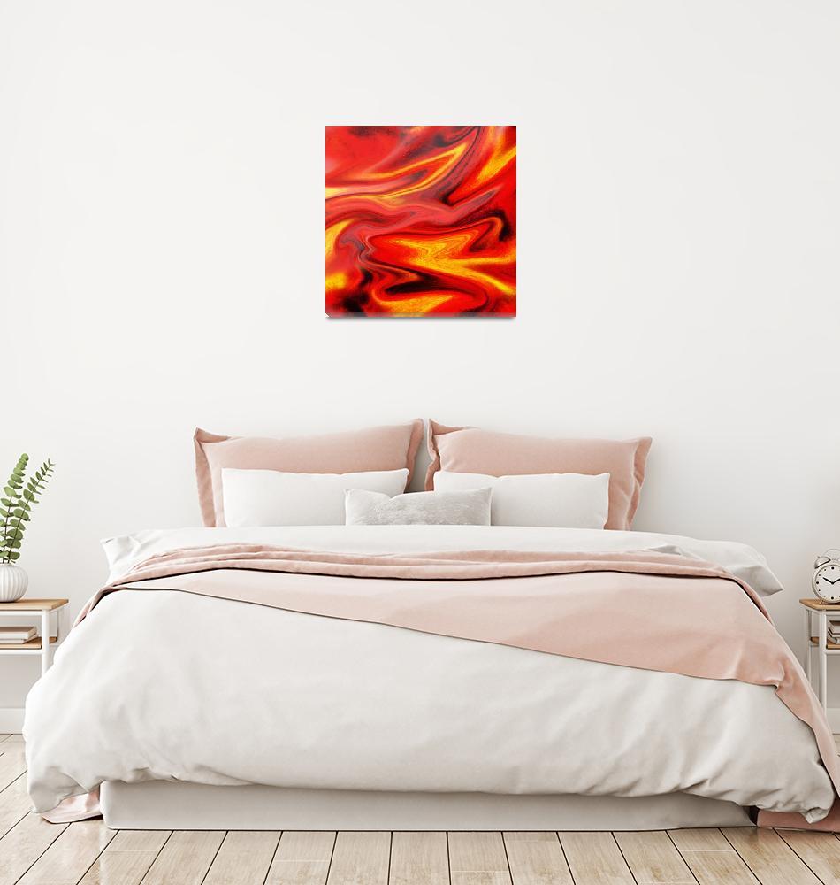 """""""Hot Wave Abstract Painting by Irina Sztukowski""""  (2016) by IrinaSztukowski"""