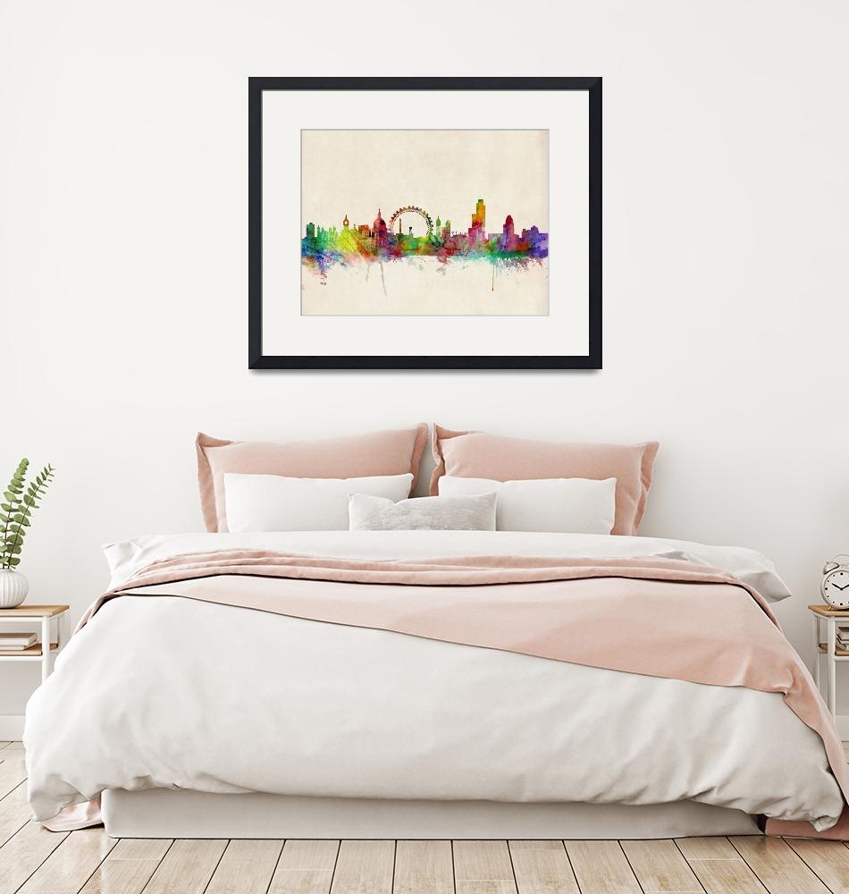 """London Skyline""  (2013) by ModernArtPrints"