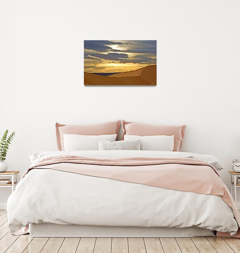 """Sahara dunes sunset""  (2013) by ChristopherByrd"
