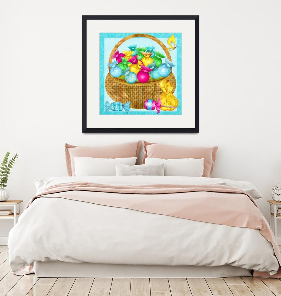 """""""Easter Candy Folk Art Whimsy""""  (2015) by ReneeLozenGraphics"""