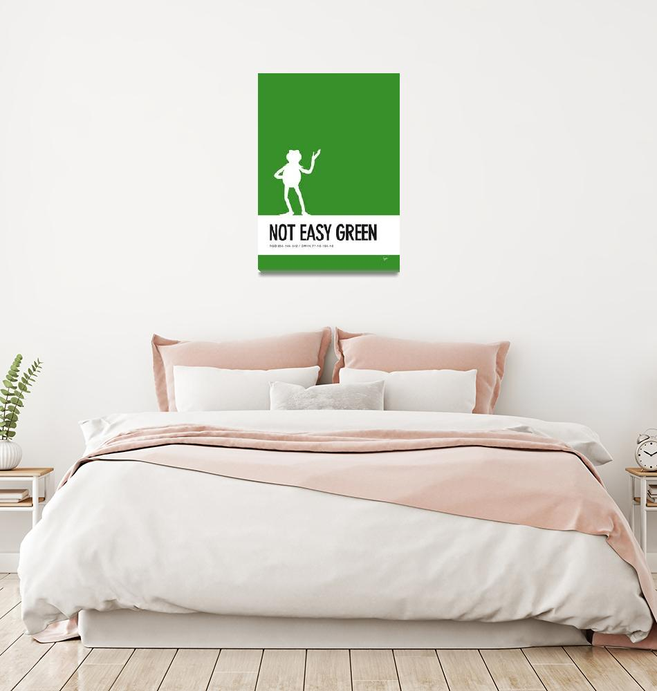 """""""No25 My Minimal Color Code poster Kermit""""  by Chungkong"""