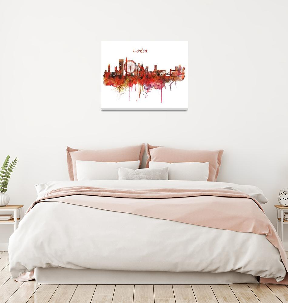 """London Skyline Watercolor""  (2015) by MarianVoicu"