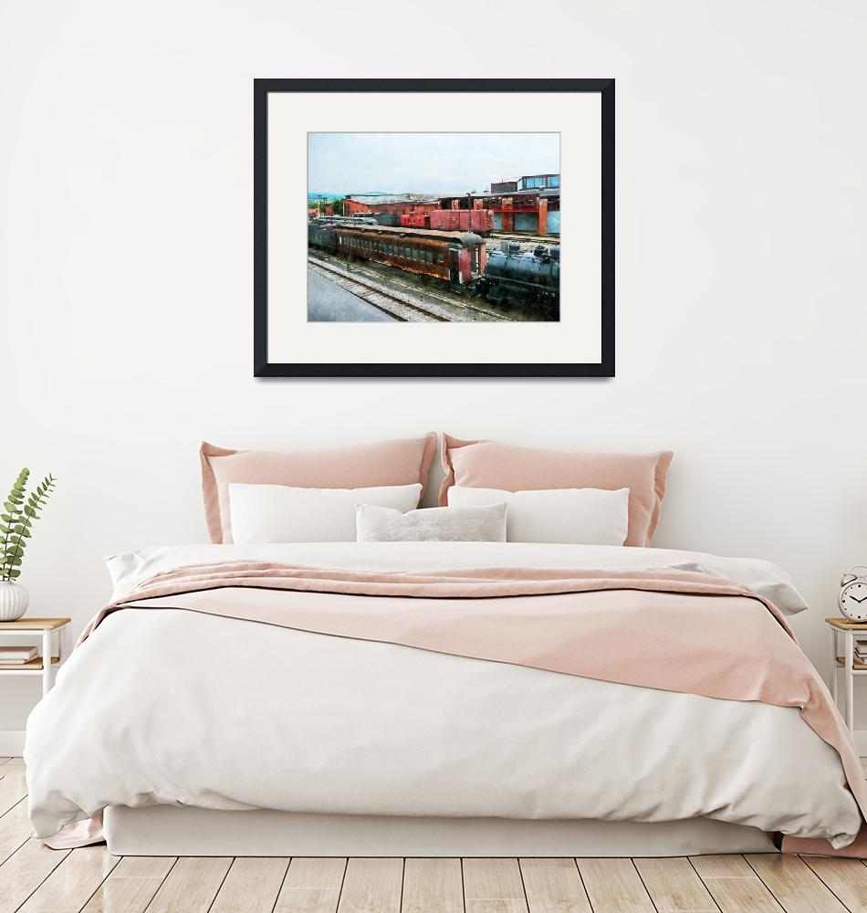 """Old Train Yard""  by susansartgallery"