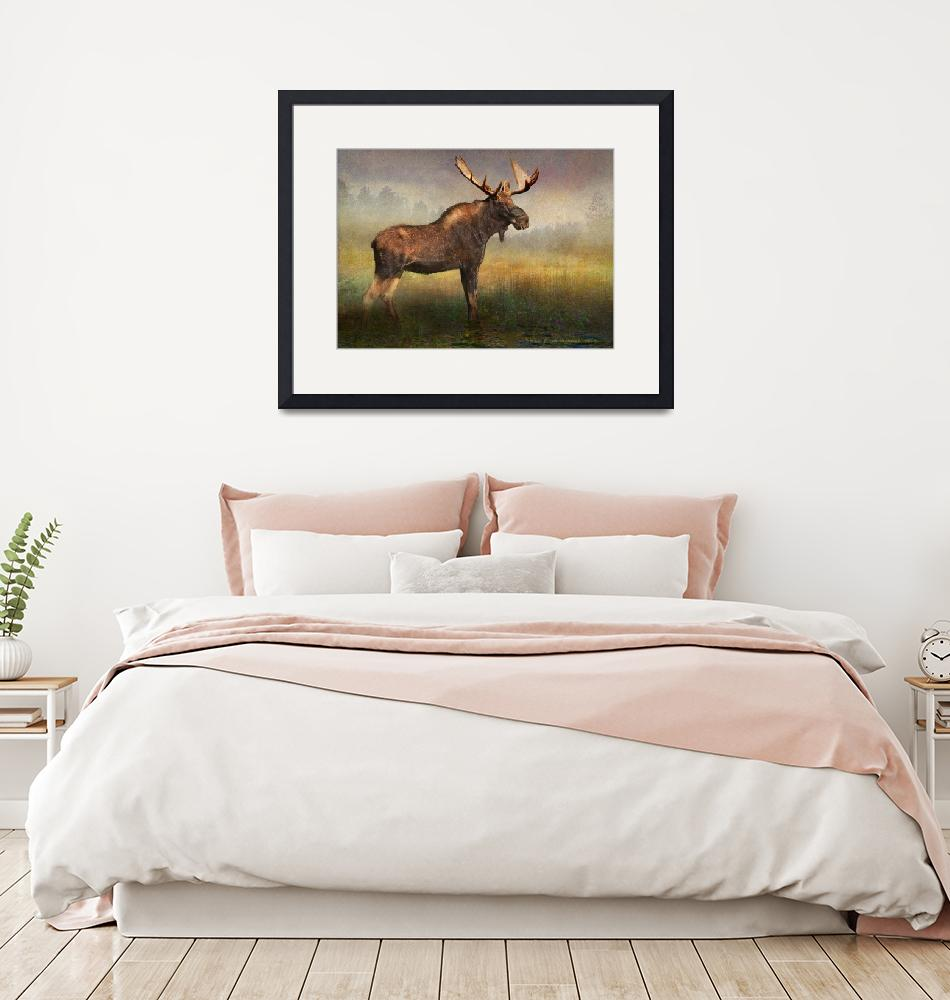 """moose at the edge of light""  (2019) by rchristophervest"