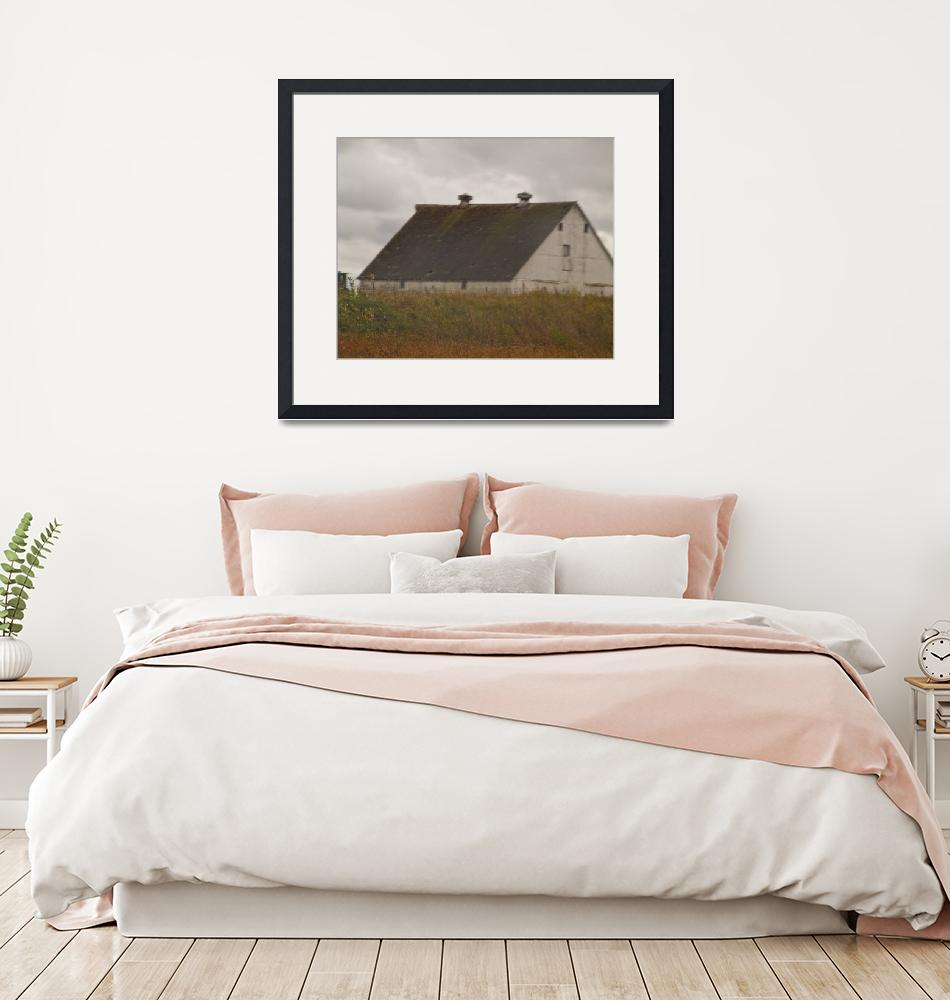 """""""Gray Barn Early autumn""""  by janesprints"""
