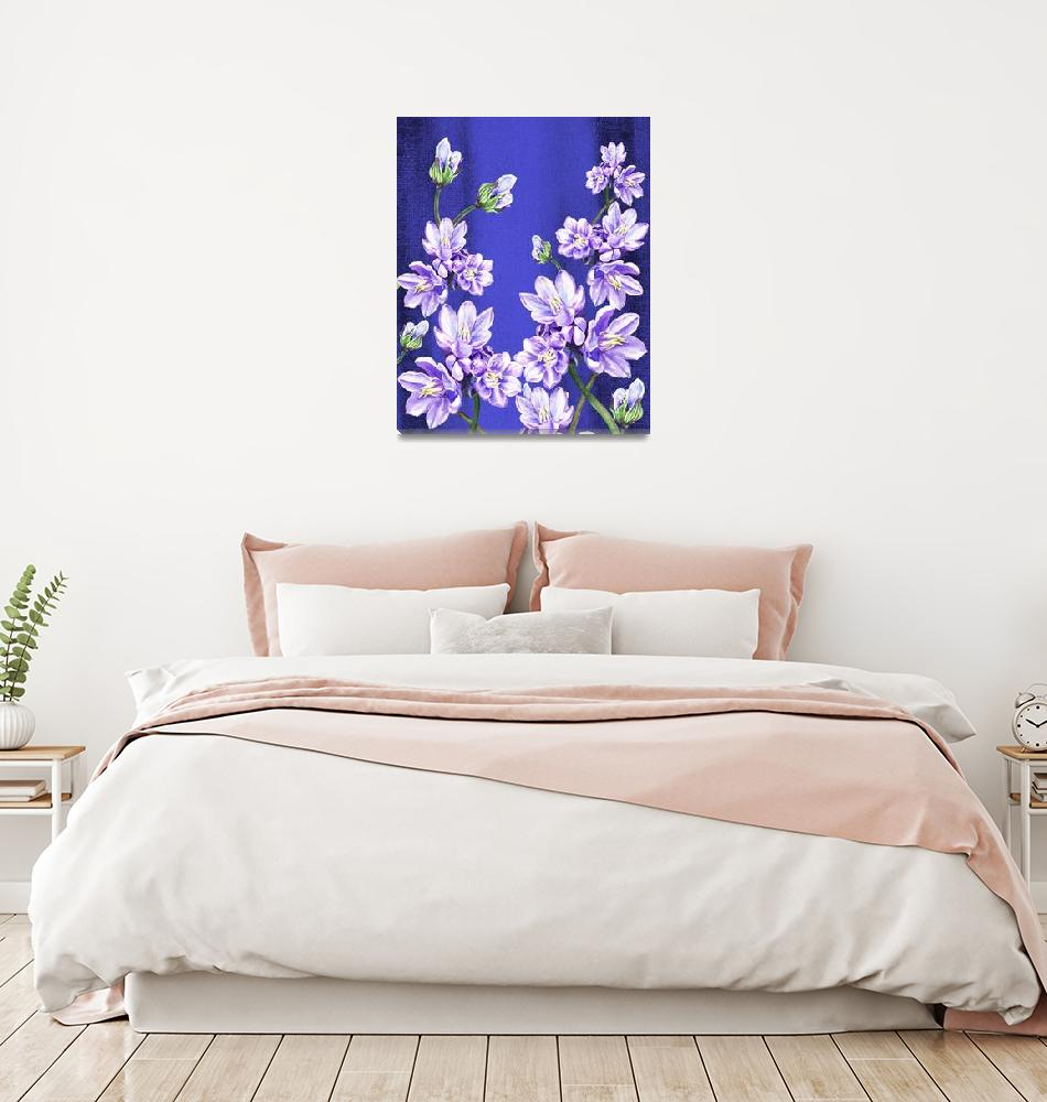 """Purple Flowers Blue Blue Sky""  (2015) by IrinaSztukowski"
