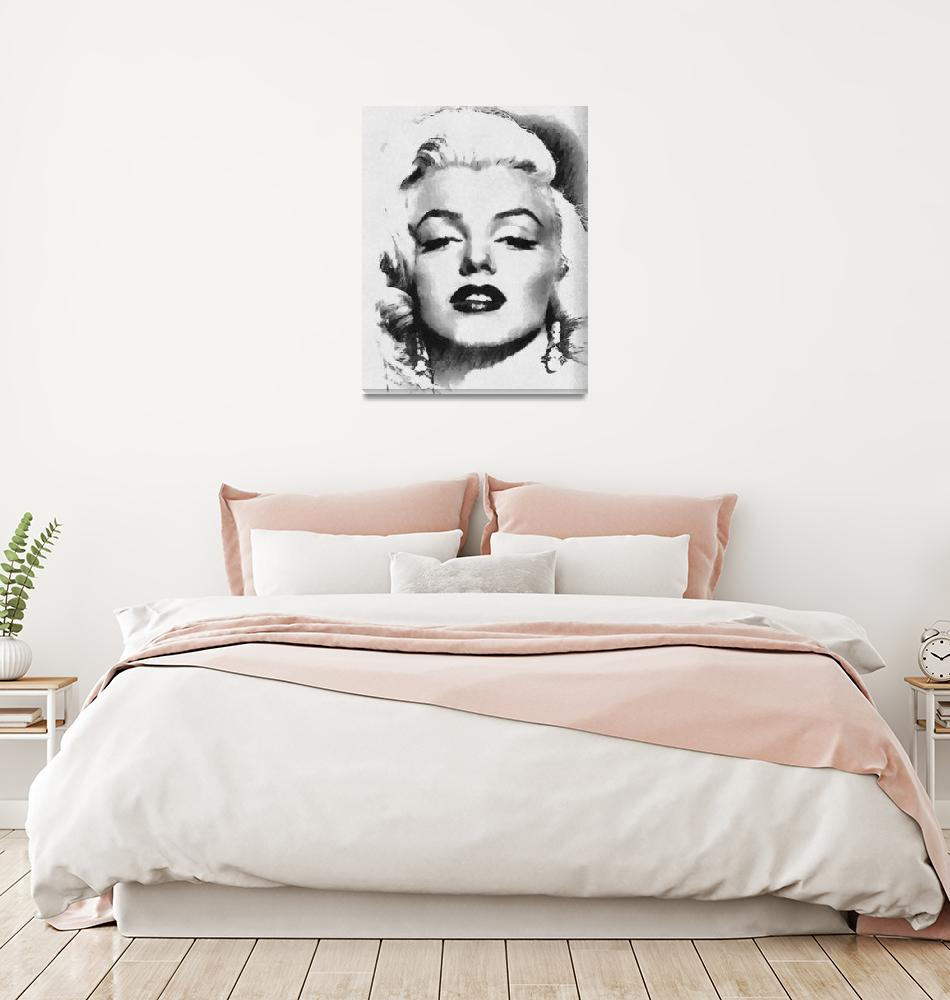 """Marilyn-Grayscale""  (2012) by leapdaybride"