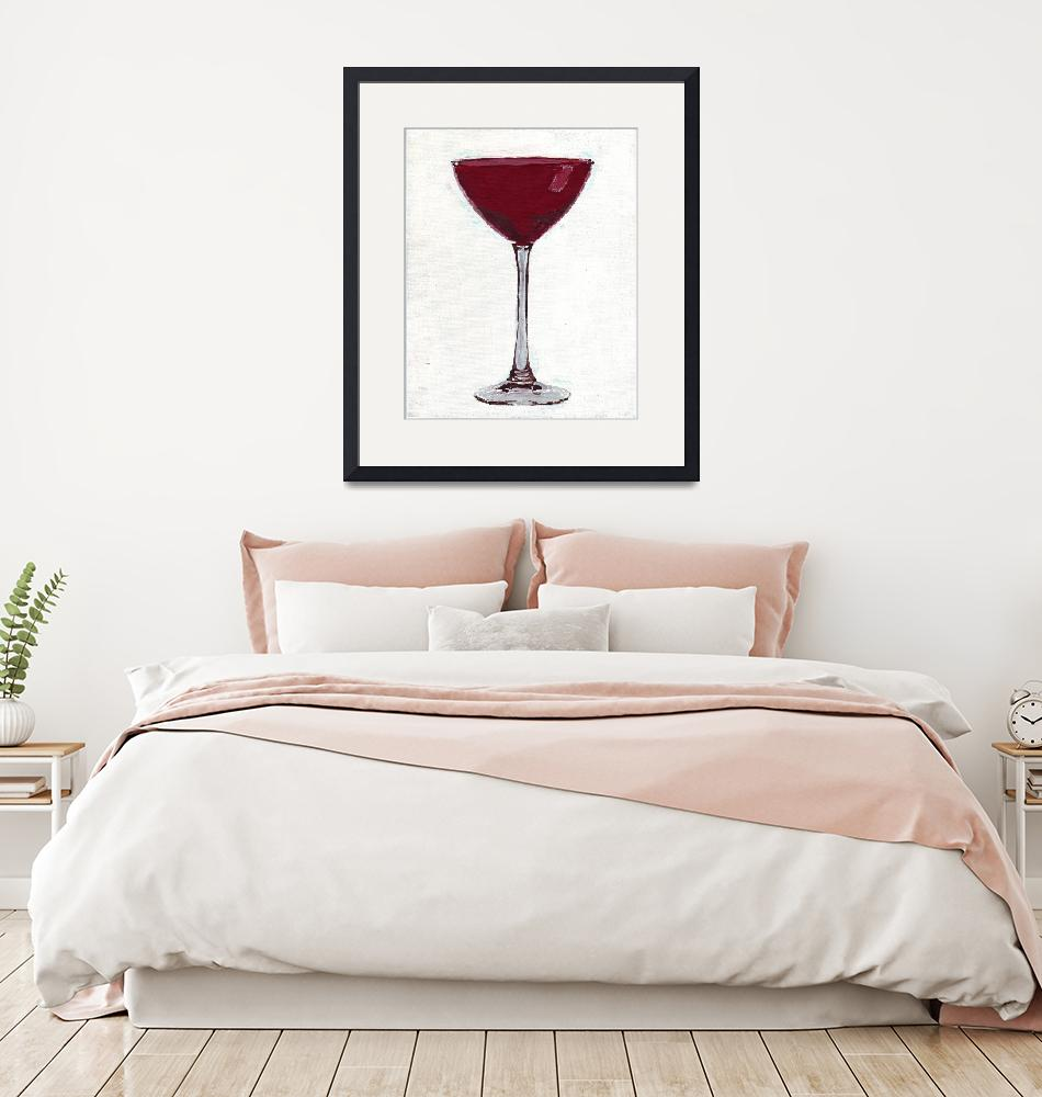 """RUBY MARTINI GLASS""  (2006) by RuthDriedger"