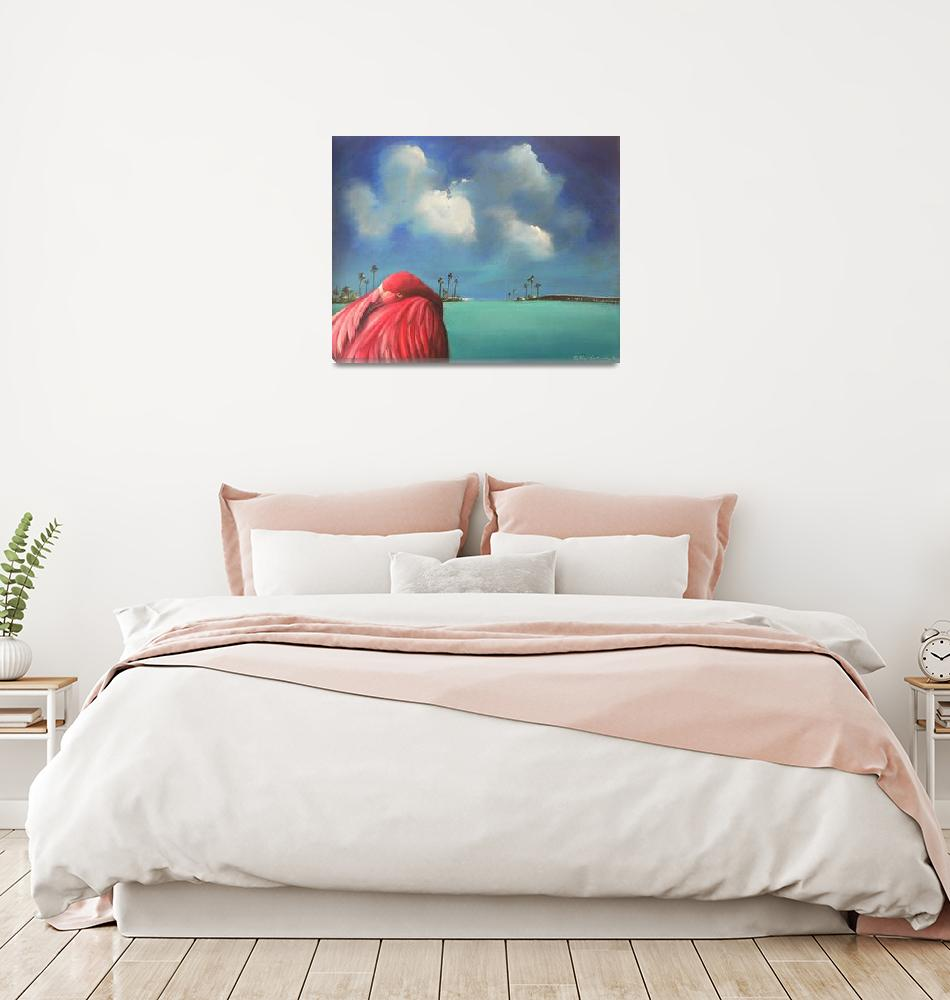 """Pink Flamingo""  by sgnarts"