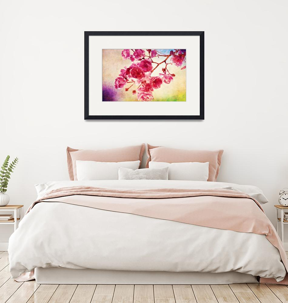 """""""watercolor-japanese-cherry-blossom-pink""""  by Art_by_Lilia"""