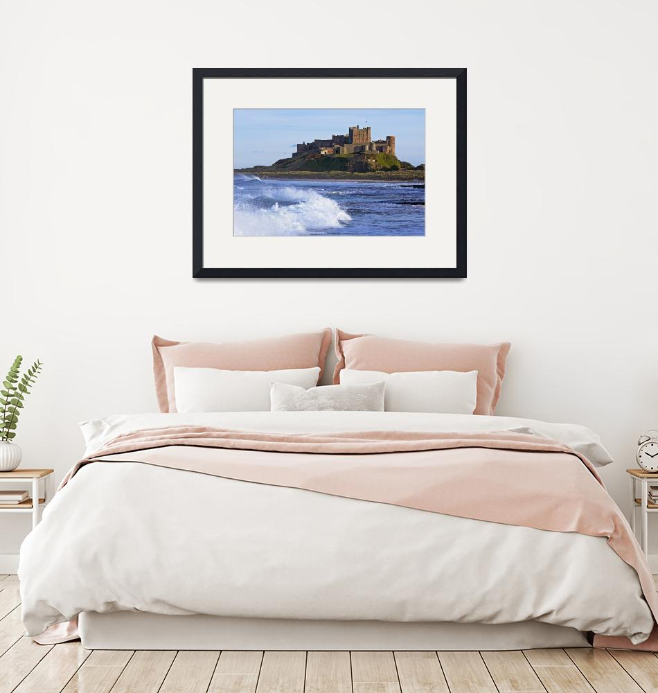 """""""View From Ocean Of Bamburgh Castle, Northumberland""""  by DesignPics"""