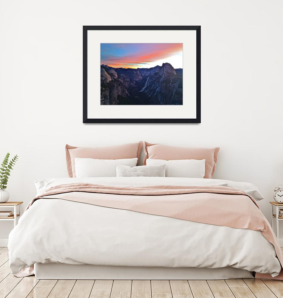 """""""Yosemite Valley and Half Dome at Sunrise""""  (2012) by phillipc81"""