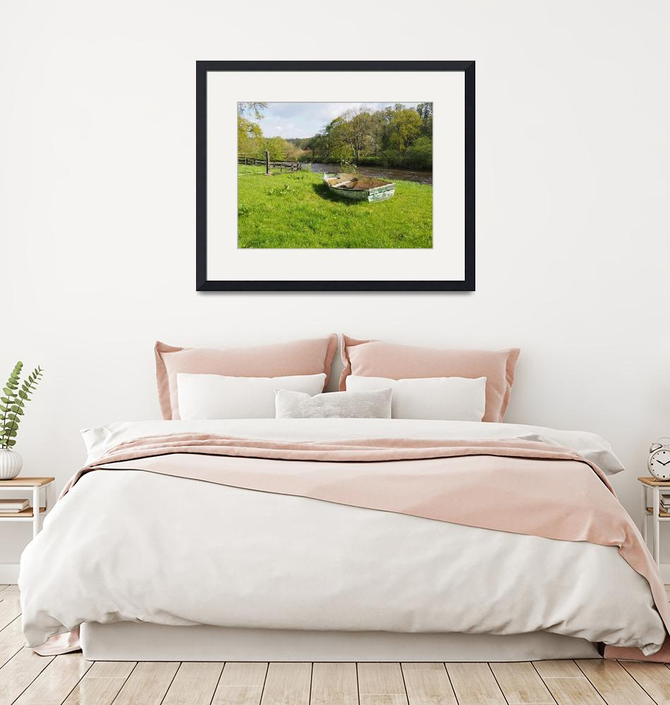 """""""Pastoral Scene by the River Nore Ireland""""  (2015) by FingerLakesPhotos"""