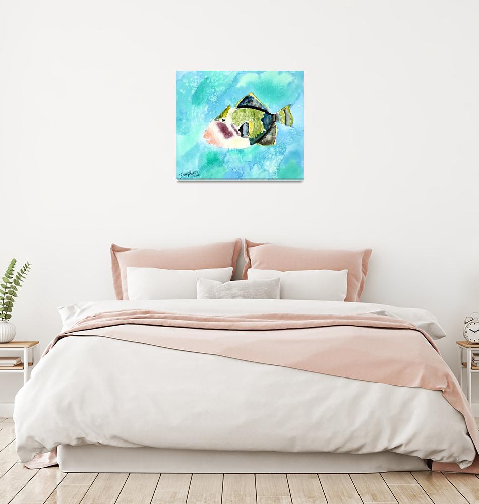 """""""trigger fish aquatic art print""""  (2010) by derekmccrea"""