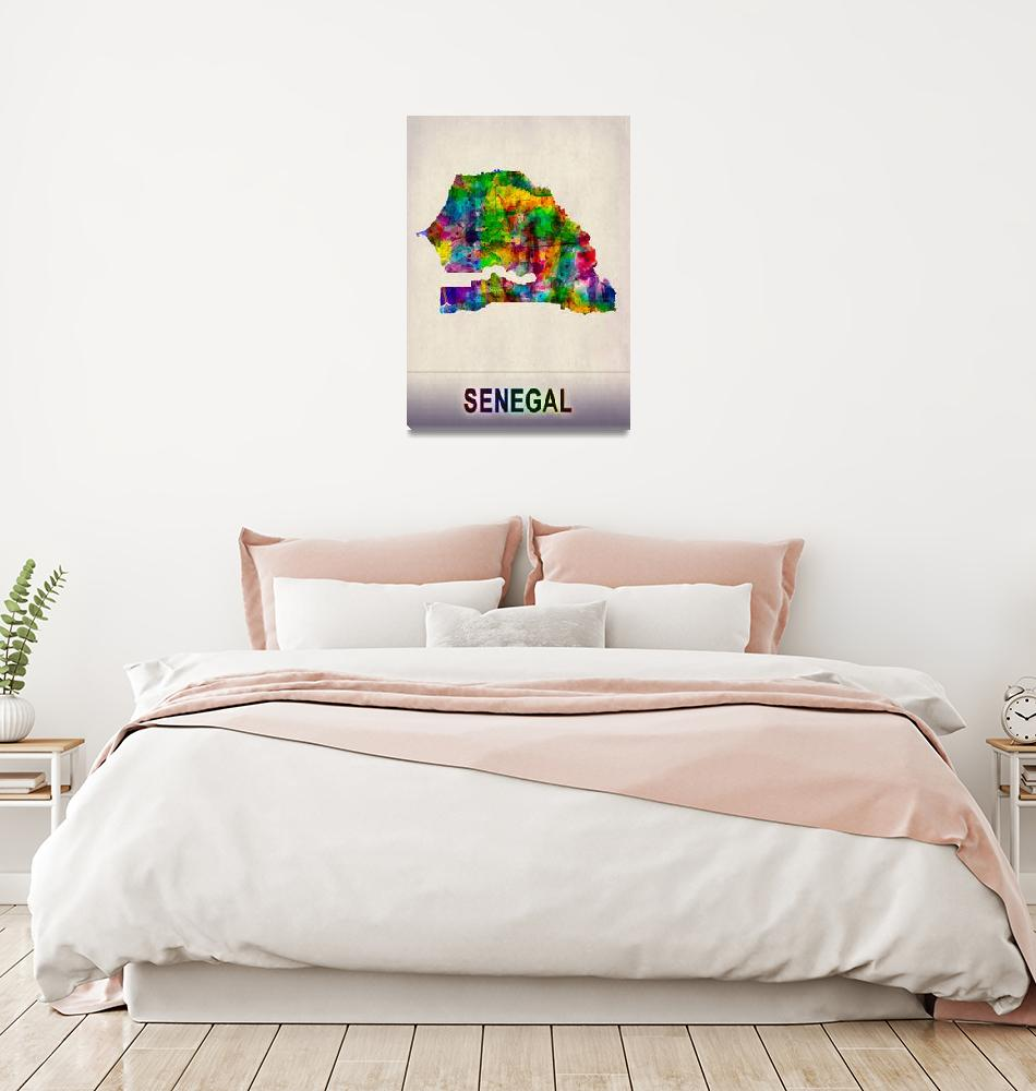 """""""Senegal Map""""  by Towseef"""