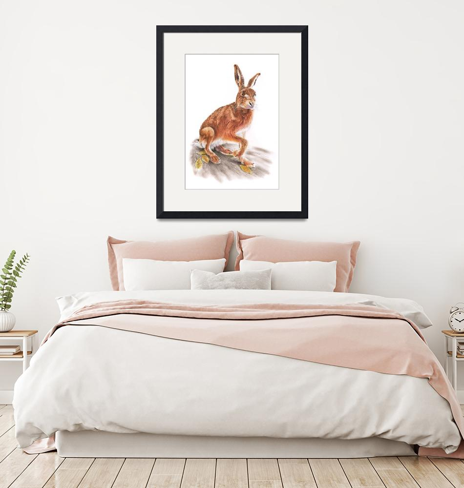 """Brown Hare""  (2020) by MightyFineArt"