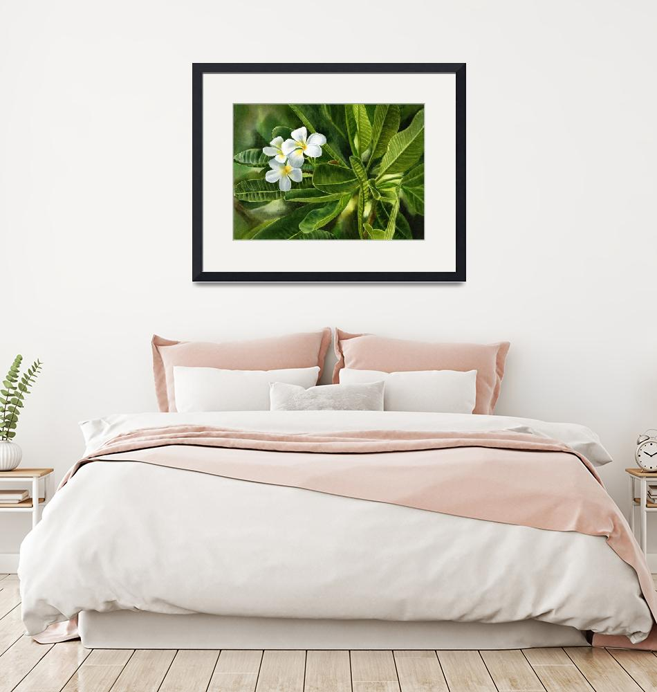 """""""Plumeria Leaves""""  (2013) by Pacific-NW-Watercolors"""