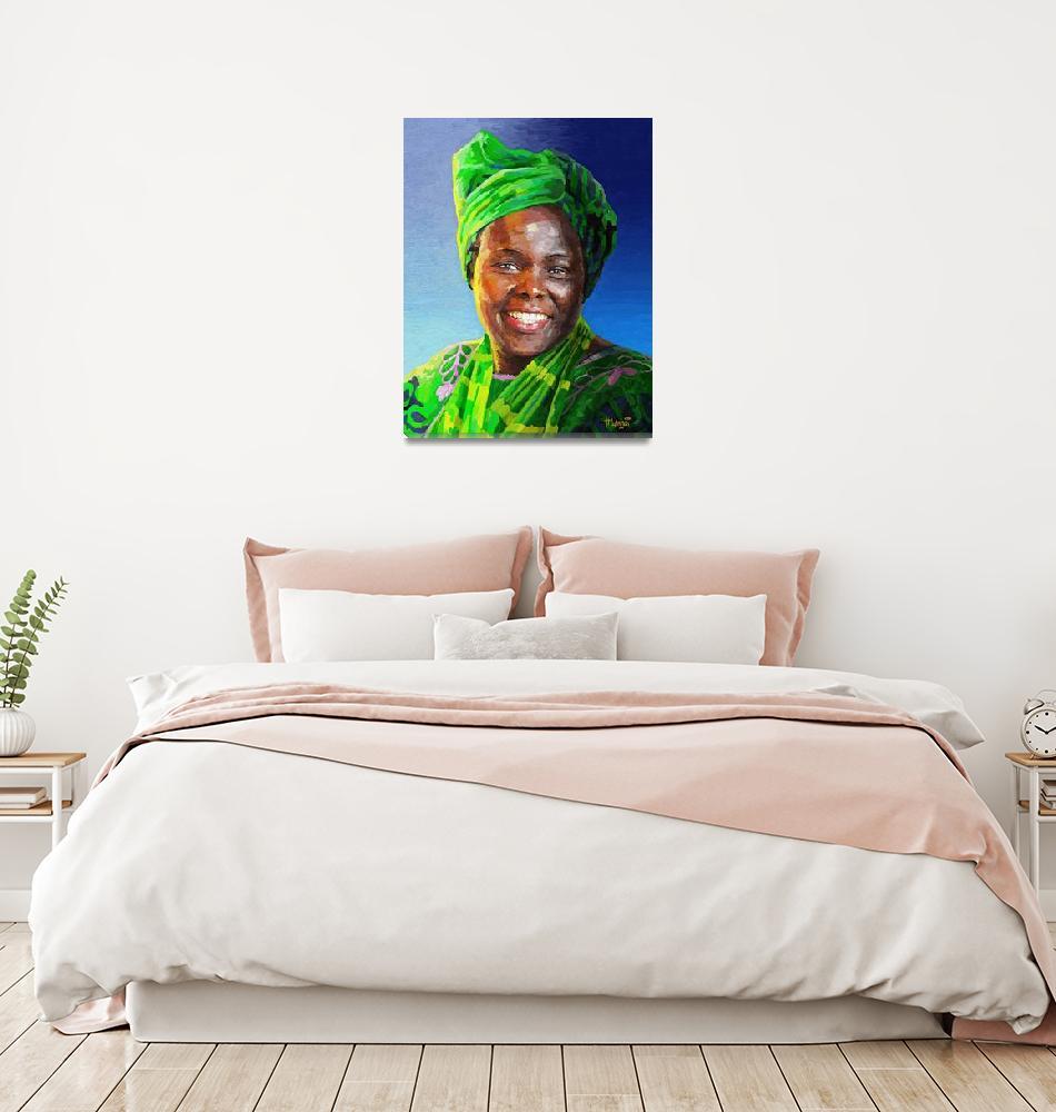 """Wangari Maathai""  (2014) by Antodezigns"