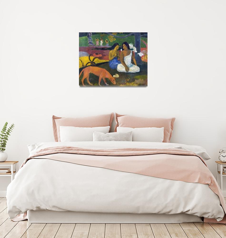 """Arearea (Joyfulness) by Paul Gauguin (1892)""  by ArtHistory"
