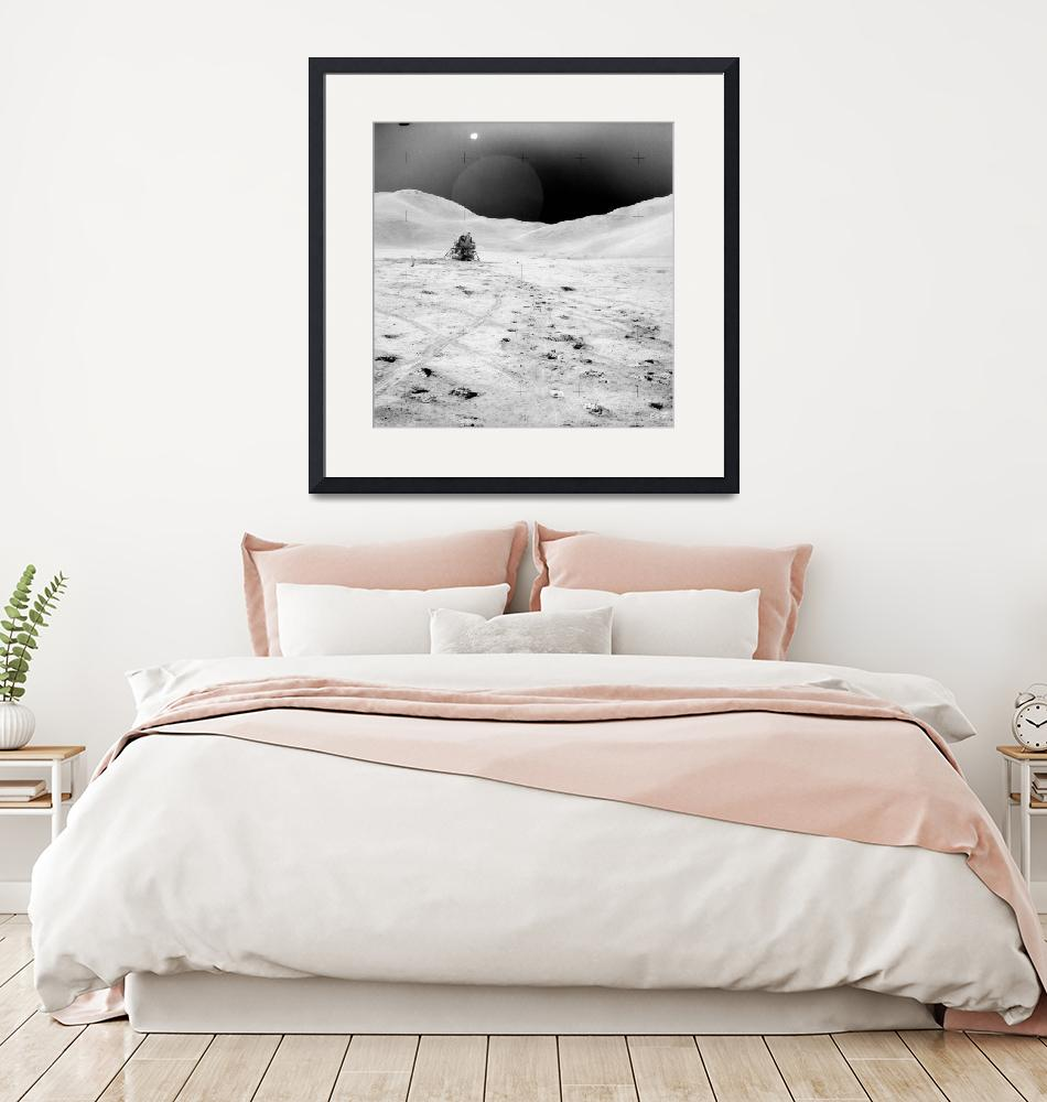 """""""Apollo 15 landing site""""  by postpainting"""