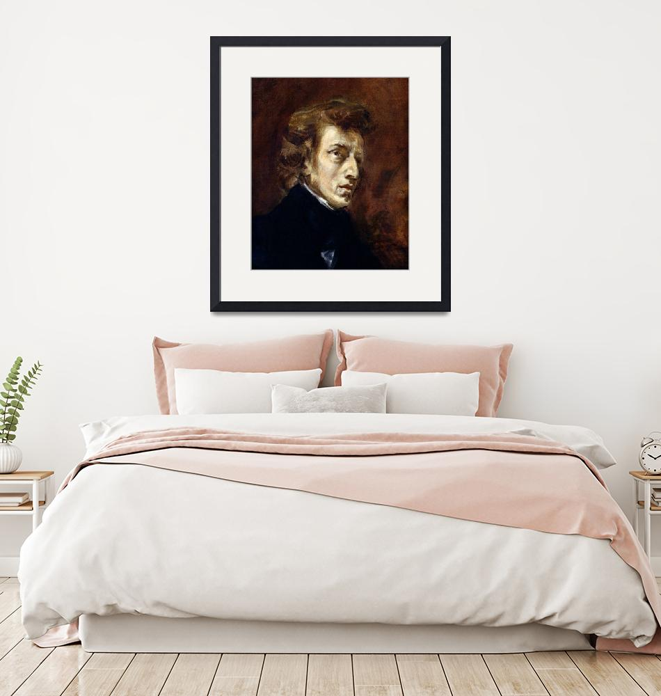 """""""Frederic Chopin by Ferdinand Delacroix""""  by fineartmasters"""