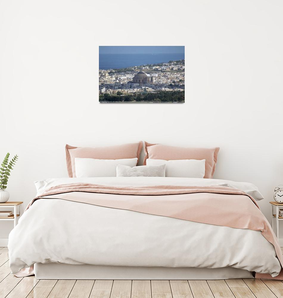 """""""Malta panoramic view of Mosta dome""""  (2018) by ovicor"""