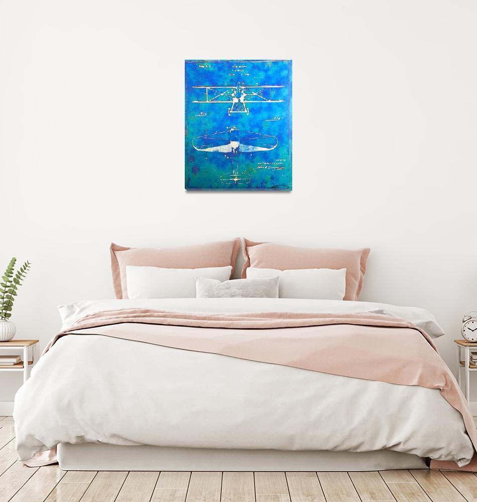 """AirplaneBlueprint""  (2016) by Artworkbytopher"