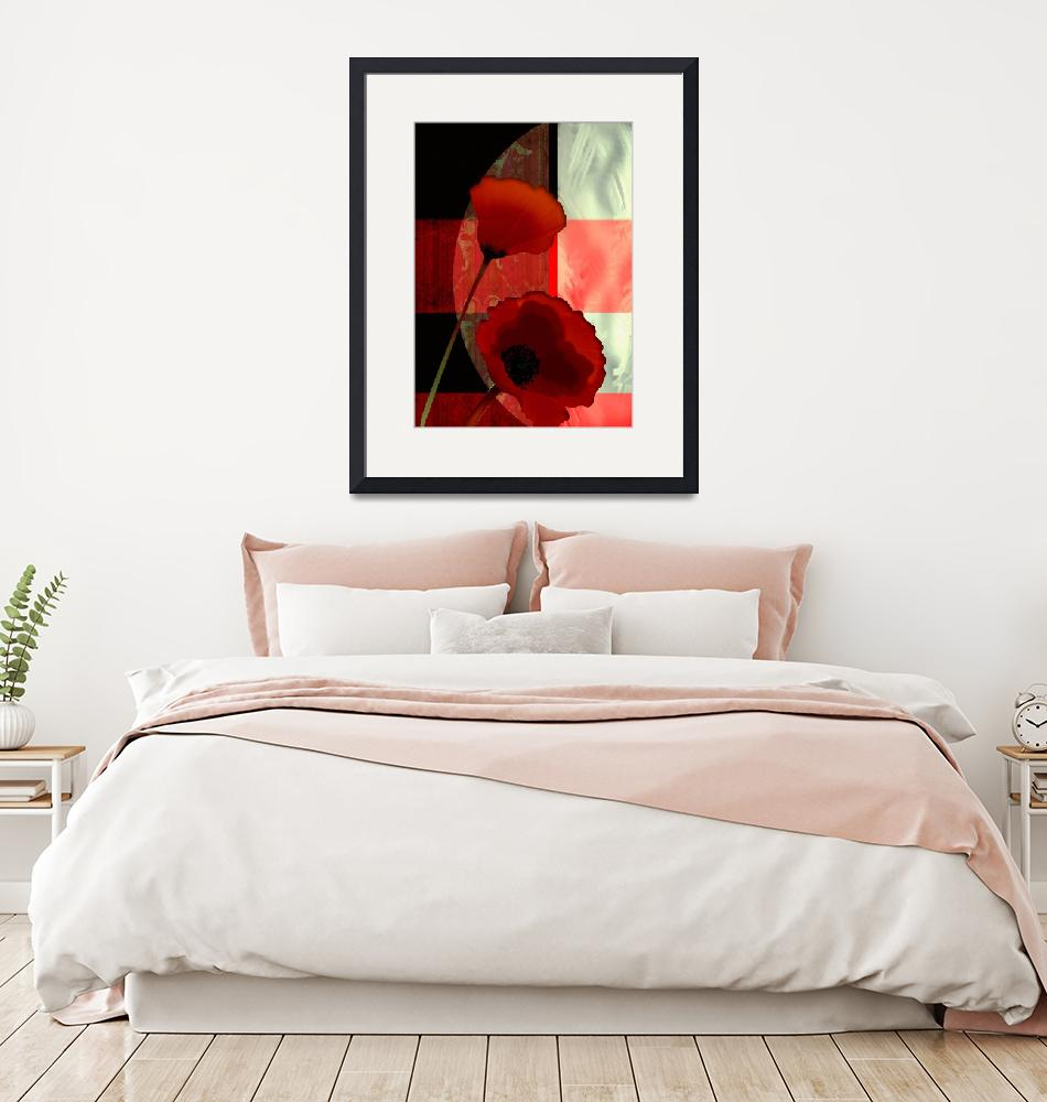"""""""China poppy wrapped in geometrical shapes""""  (2015) by Unique_designs"""