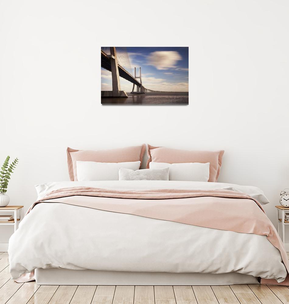 """Vasco da Gama Bridge #03""  (2012) by sensorfleck"