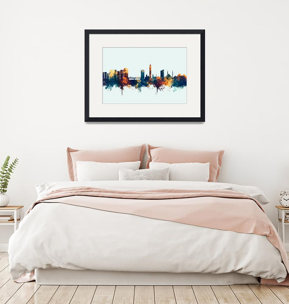 """Cairo Egypt Skyline""  (2018) by ModernArtPrints"