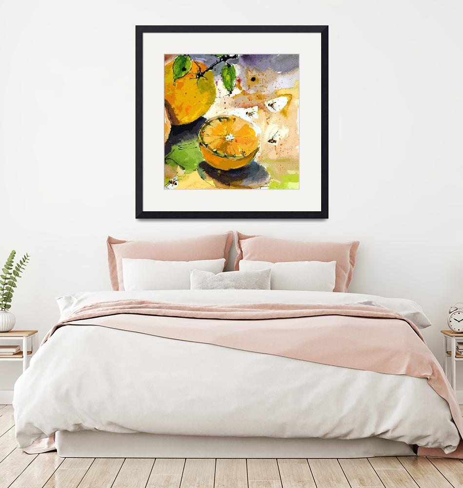 """""""Oranges and Bees Modern Decor""""  by GinetteCallaway"""