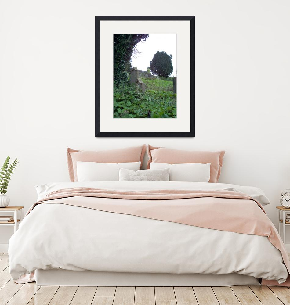 """""""16x20 300 dpi Youghal medieval wall from grave yar""""  (2004) by marricphoto"""