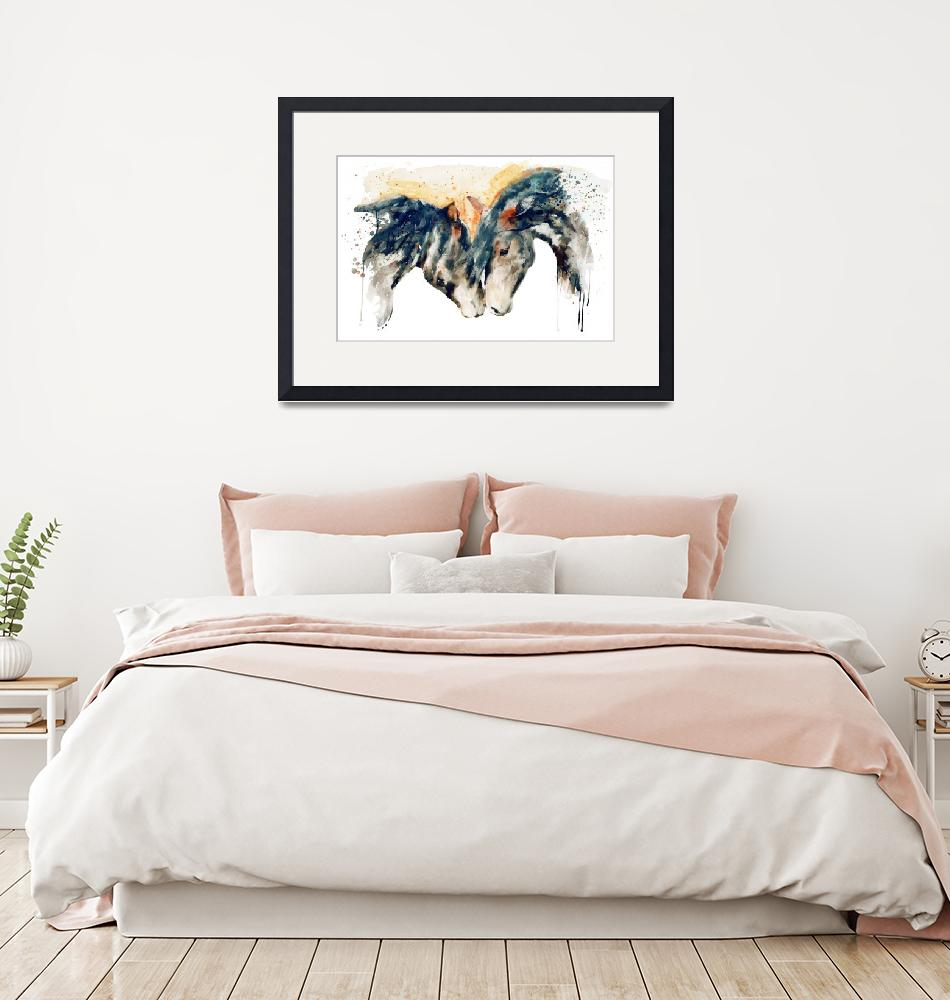 """""""Wild Horses Watercolor Painting""""  (2021) by MarianVoicu"""
