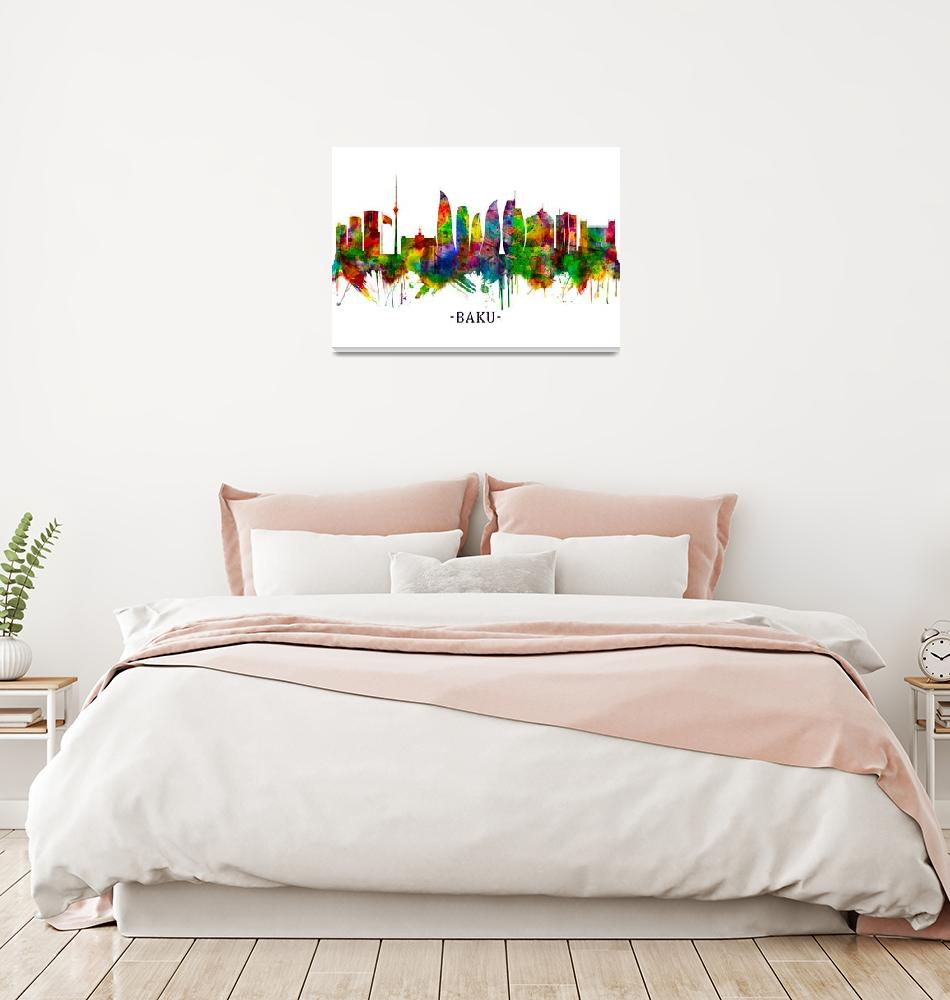 """Baku Azerbaijan Skyline""  by Towseef"