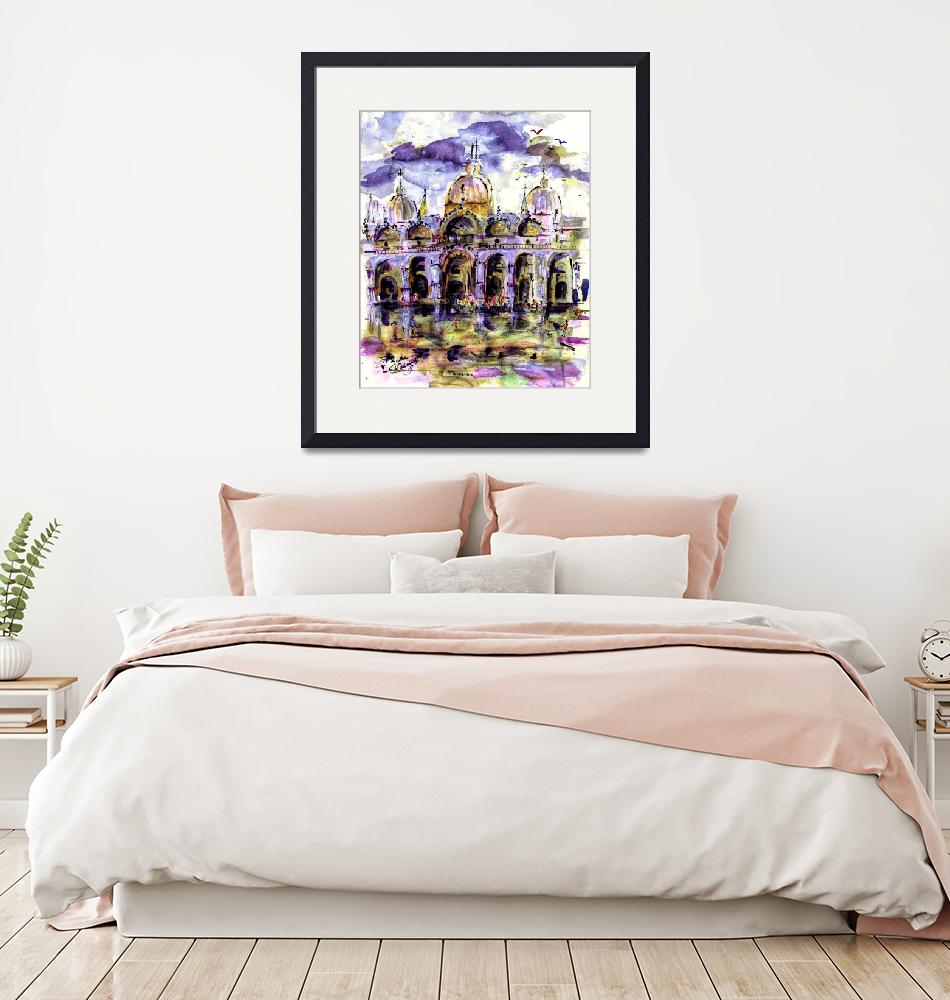 """""""Venice Piazza t Marco Purple Dream""""  (2019) by GinetteCallaway"""