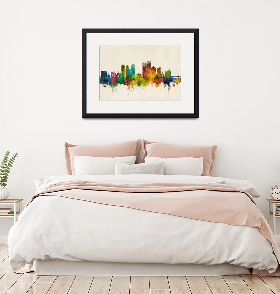 """Dayton Ohio Skyline""  (2018) by ModernArtPrints"