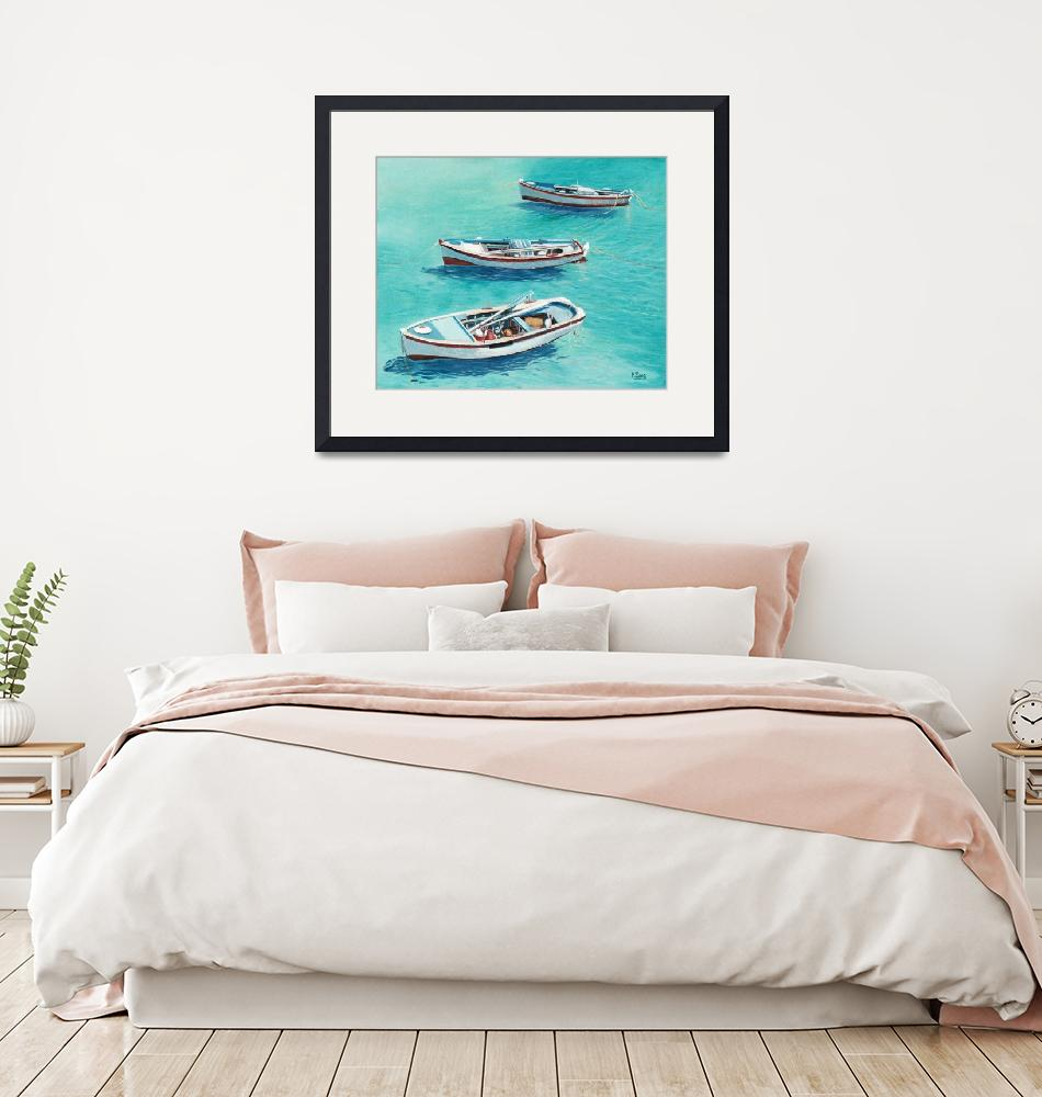 """""""3 Boats""""  (2018) by yuezeng"""