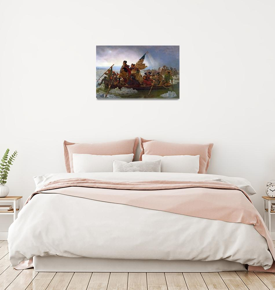 """""""Washington Crossing the Delaware River""""  by fineartmasters"""