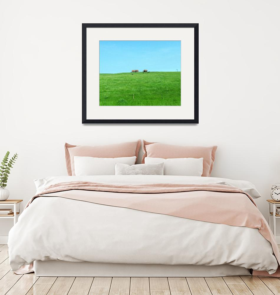 """""""Small Ranch on a Hill""""  (2011) by patriciaschnepf"""