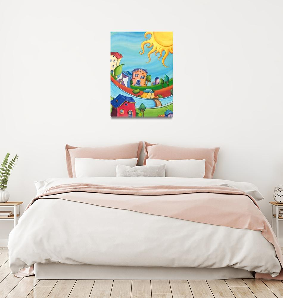 """""""Kids room Colorful Sunny houses""""  (2012) by nopiepan"""