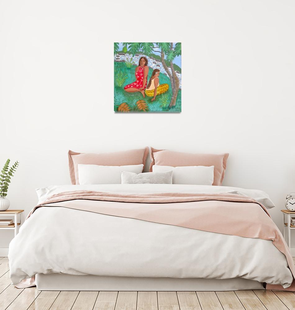 """""Under The Breadfruit Tree""""  by RachelScottArt"
