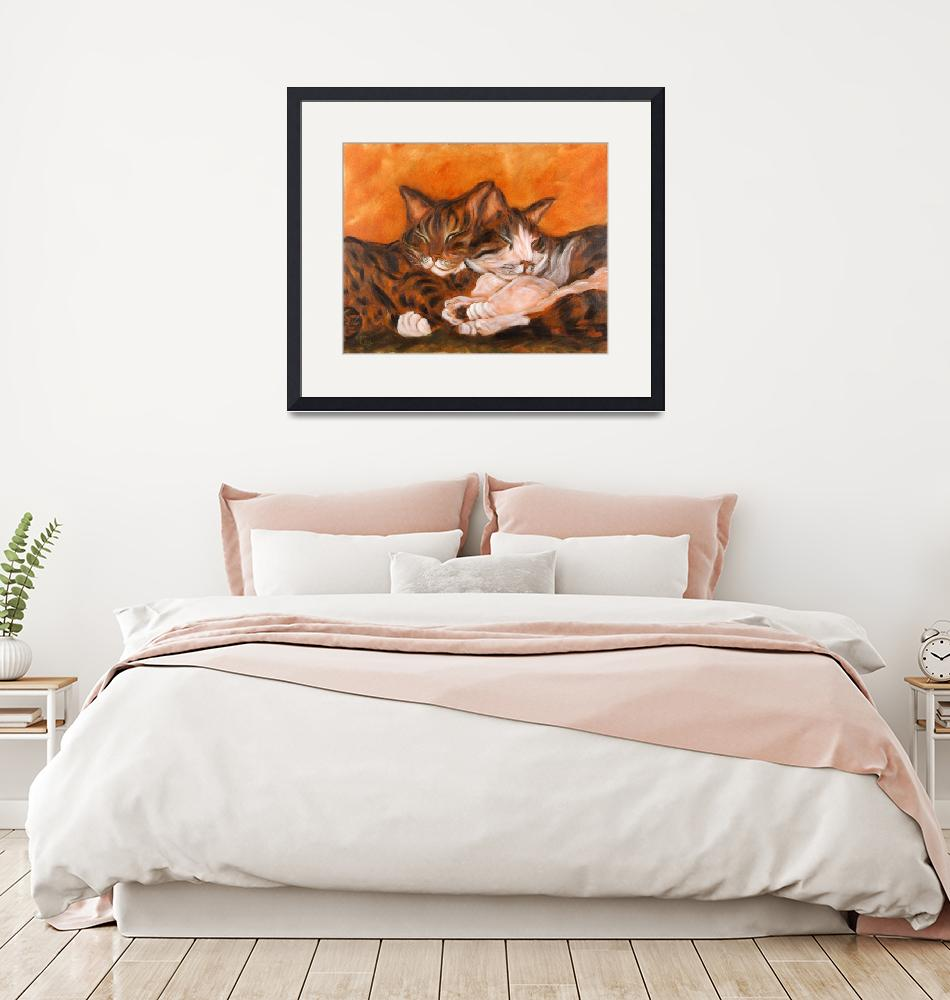 """""""Cat Cuddle"""" by tagscats"""