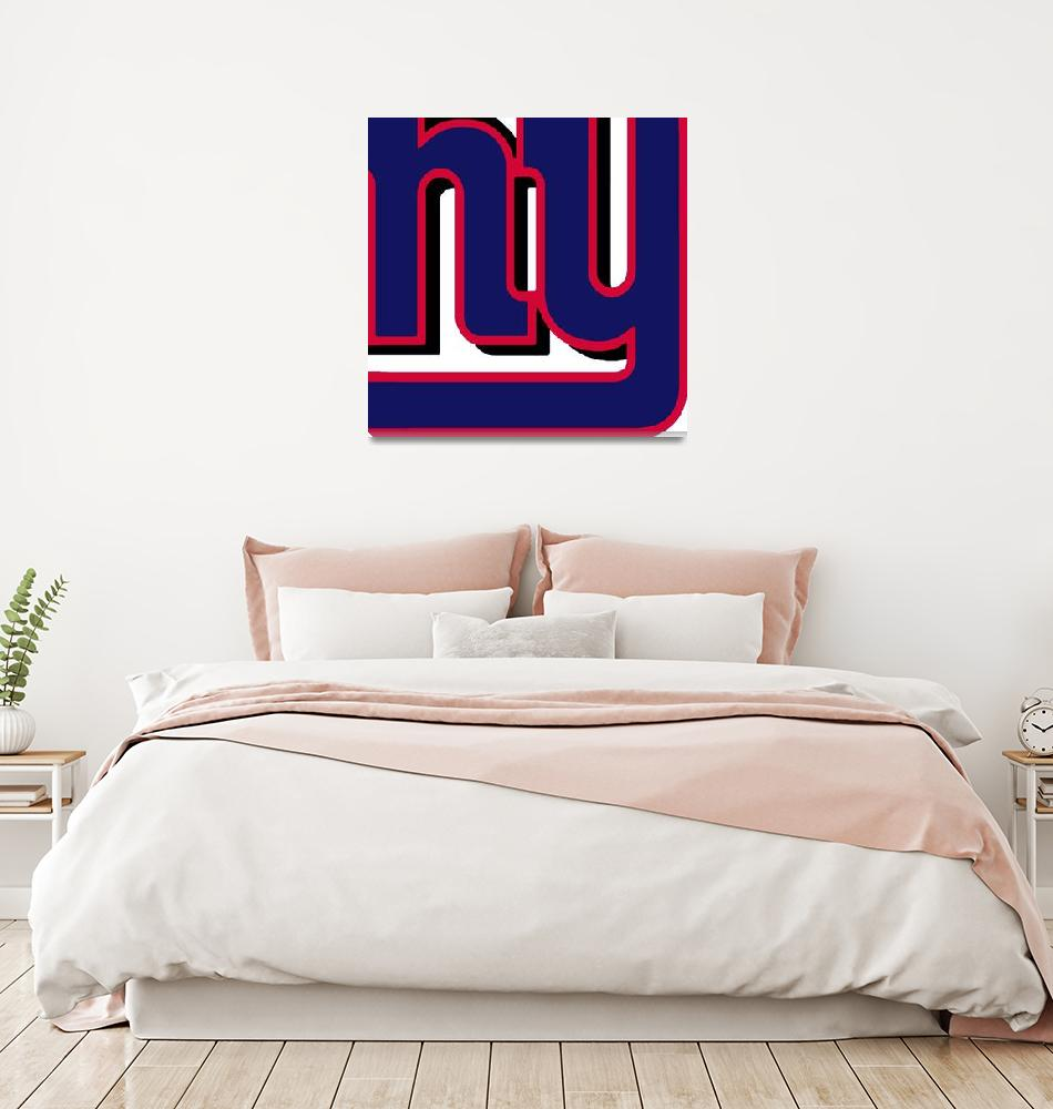 """New York Giants Football 2""  (2013) by RubinoFineArt"