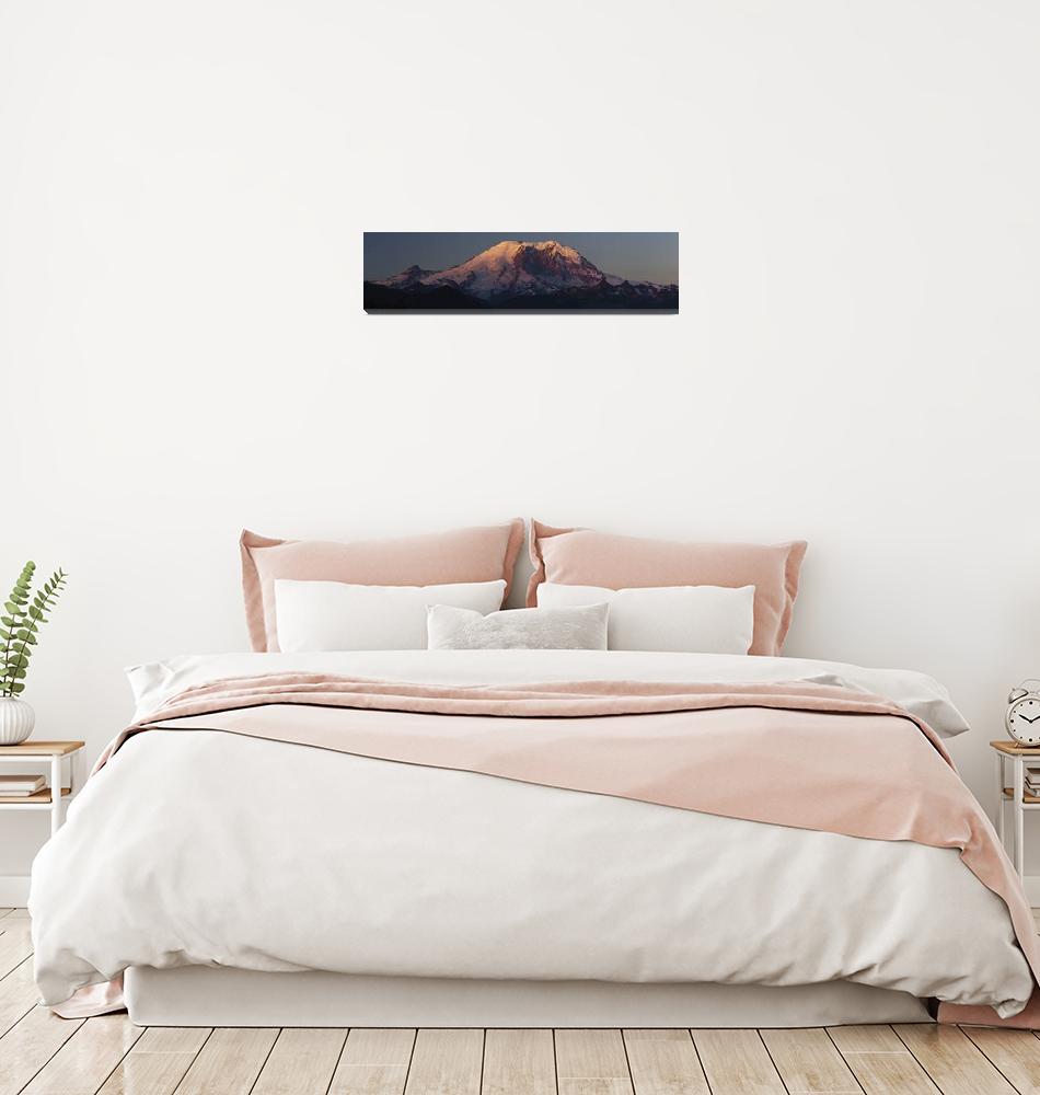 """Mt. Rainier Sunrise Panorama""  (2010) by JimDockery"