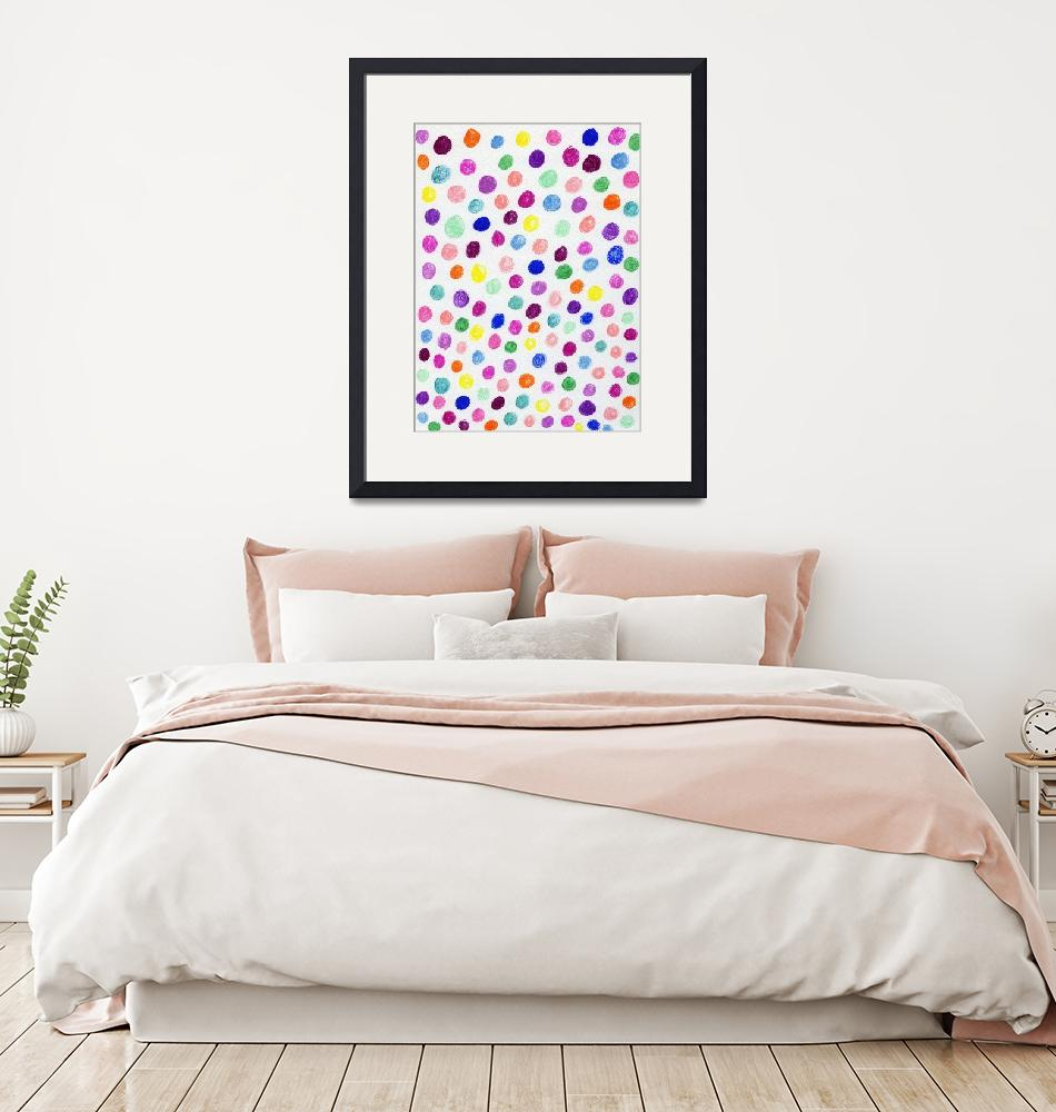 """""""Colorful Ink Circle Pattern""""  (2020) by ValeriesGallery"""