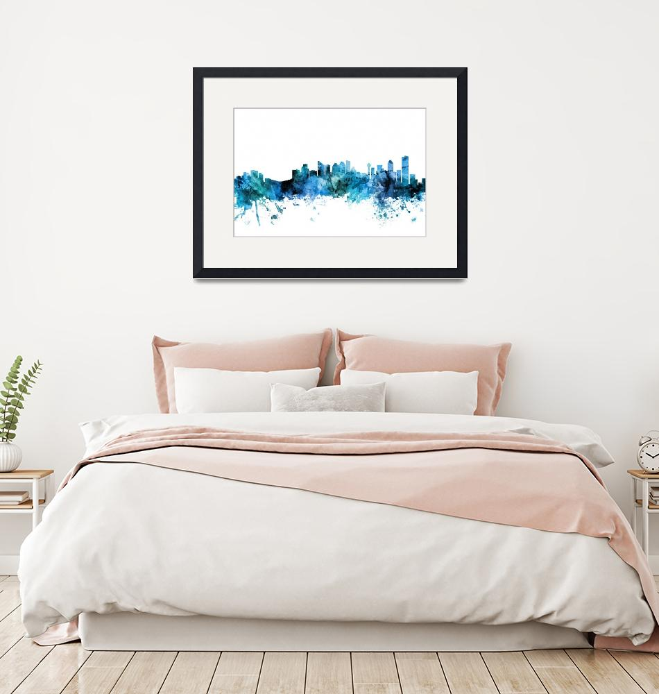"""Calgary Canada Skyline""  (2018) by ModernArtPrints"