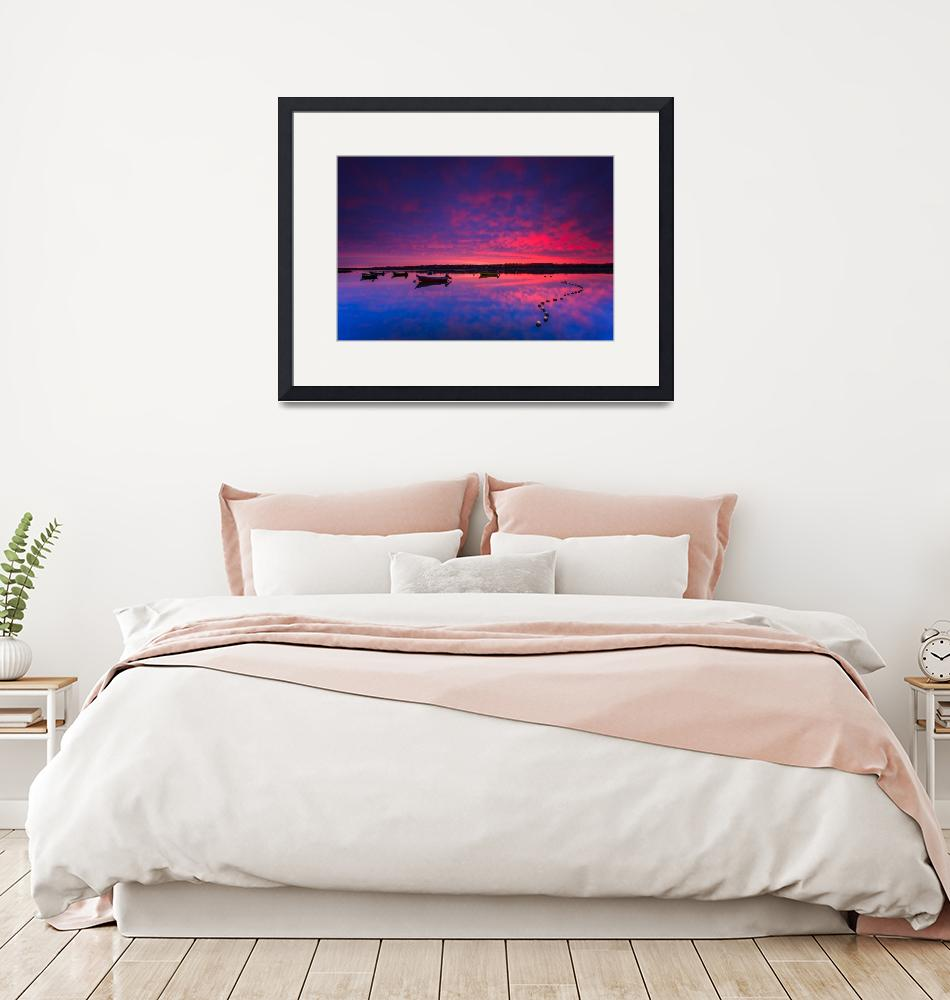"""""""Cape Cod Sunrise: Sky On Fire Eastham Cape Cod""""  (2016) by Black_White_Photos"""