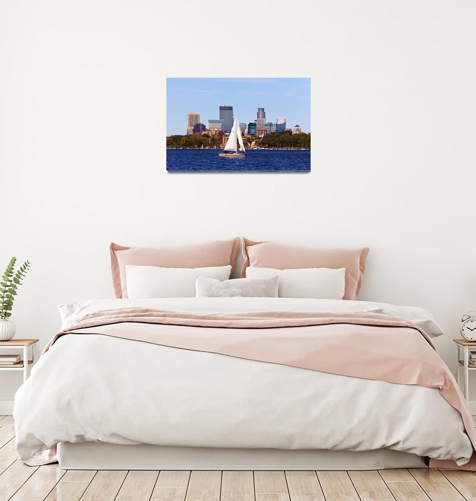 """Minneapolis Skyline Lake Calhoun Sailing""  (2010) by WaynePhotoGuy"