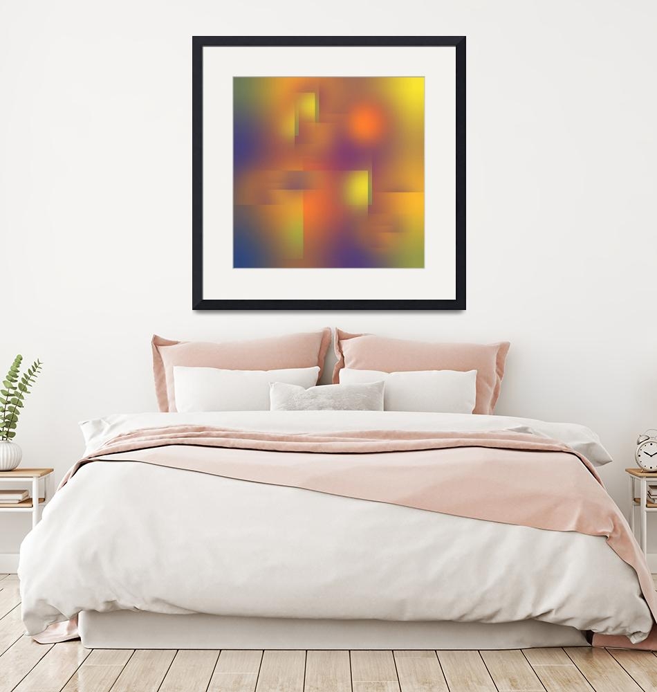 """""""Fun with Colors City Lights Abstract""""  (2019) by JennyRainbow"""
